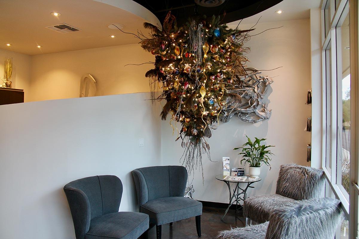 Christmas Tree decoration at Design Ramon Hair Studio in Ahwatukee | 480 763 5588