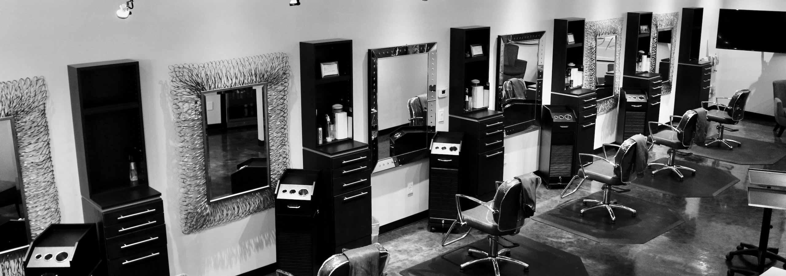 Contemporary remodel at Design Ramon Hair Studio in Ahwatukee   480 763 5588