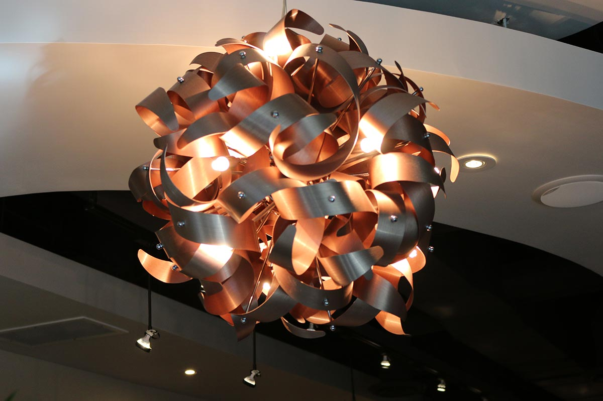 Designer Lamp at Design Ramon Hair Studio in Ahwatukee | 480 763 5588